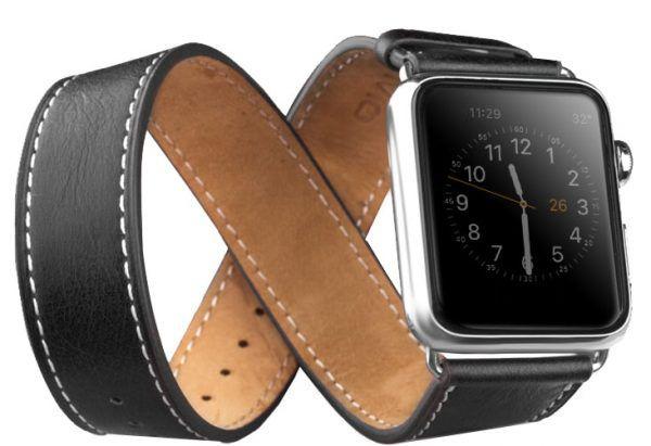 Curea Apple Watch 5, 4 44mm, 1, 2, 3 42mm, piele naturala 2in1 Qialino