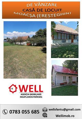 De vânzare casă de locuit din lemn, în Moacșa (Eresteghin)