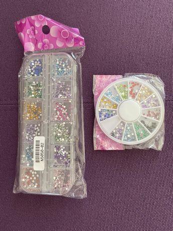 2 кутии камъни за декорация на маникюр