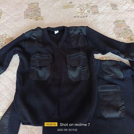 Военен пуловер черен