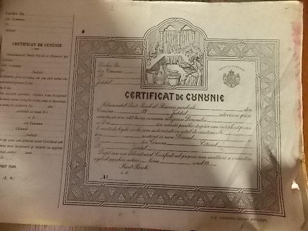 Certificat de cununie din perioda monarhiei