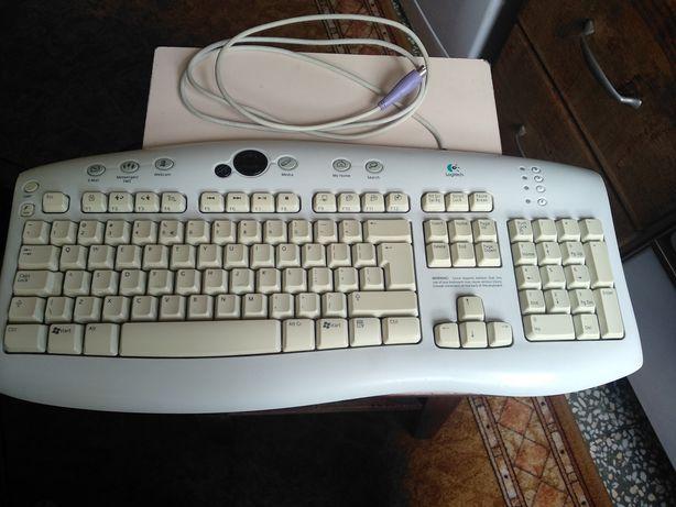Tastatura calitate superioara LOGITECH multimedia PS2 cablu 1,8 m.