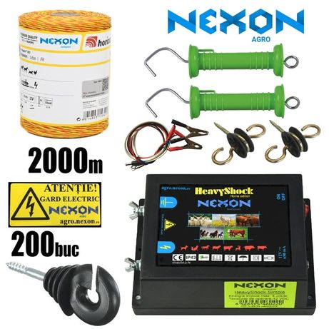 Kit complet gard electric NEXON Simple 12V , 2000m