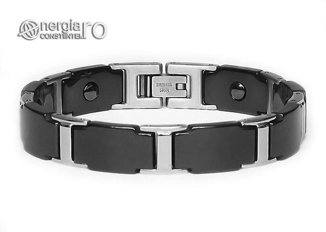 Brăţară Magnetică Energetică Tungsten și INOX - cod BRA035