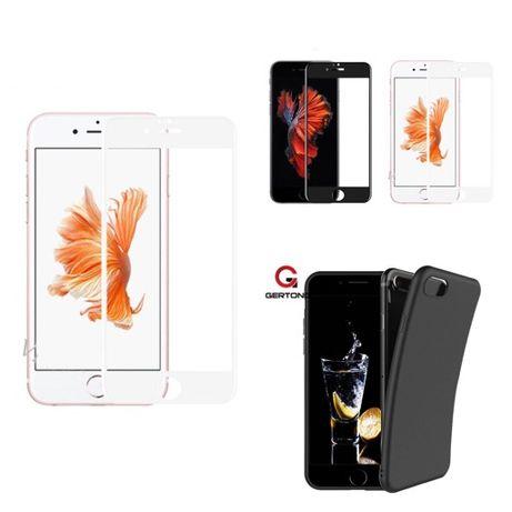 Iphone 6 6S+ 7 7+ 8 8 Plus Husa Silicon si Folie Sticla Curbata 6D 11D