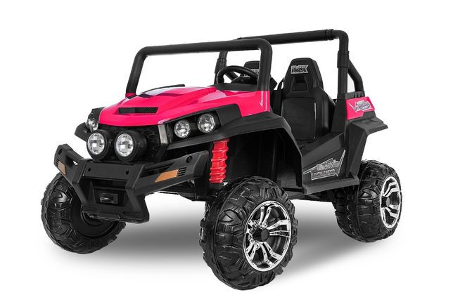 UTV electric pentru 2 copii Kinderauto Golf-Kart 210W 24V PREMIUM #Roz