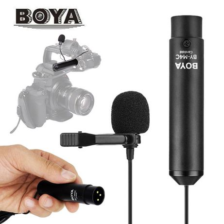 Lavaliera Microfon BOYA BY-M4C Profesionala cu XLR pt recorder, camera