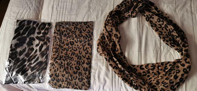 esarfa dama imprimeu leopard