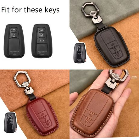 Кожен калъф за ключ Toyota Camry Prius Corolla C-HR CHR RAV4 Avalon