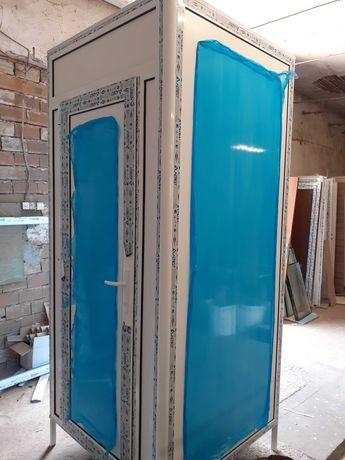 Алуминиева кабинка - съблекалня - заготовка за химическа тоалетна