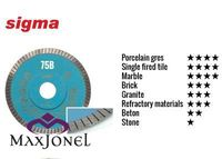 Disc diamantat Sigma 115mm art. 75B PROFESSIONAL TURBO
