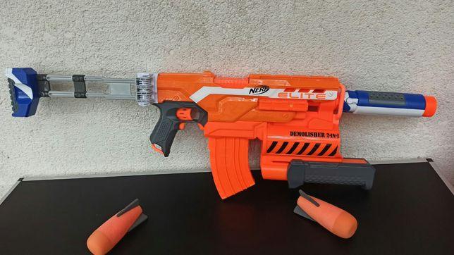 Jucarie pusca blaster Nerf Elite Demolisher baieti copii electrica