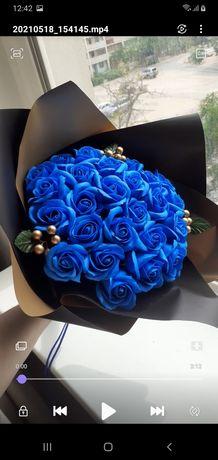 Букет из мыльных роз 25 роз за 5000тг