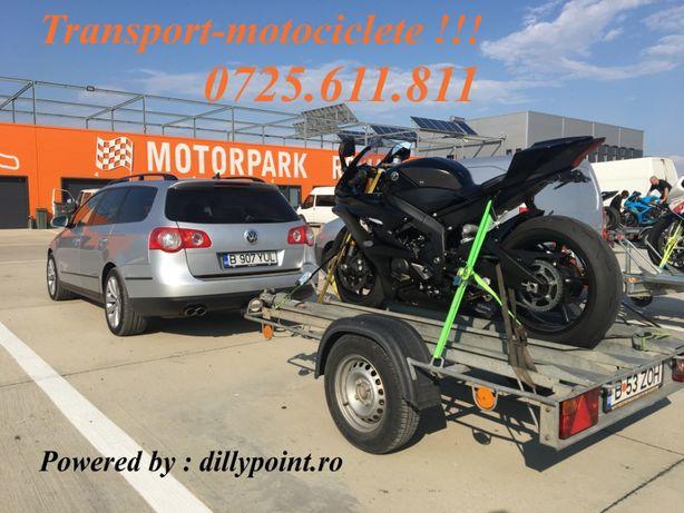 Transport motociclete atv , transport moto , tractari moto