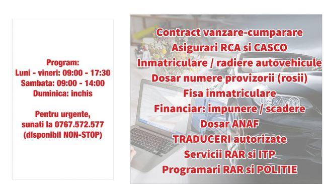 Birou acte auto Craiova, inmatriculari, asigurari RCA, contracte, RAR