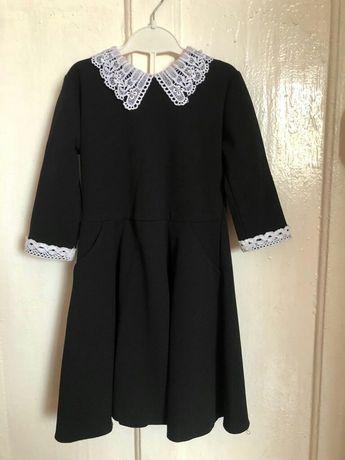 Платье с фартуком школьное