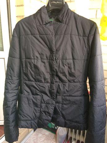 Куртка женская чёрного цвета , 44-46 размер, Benetton Италия