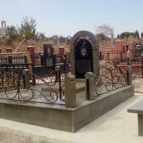 Гранитные памятники мемориальные комплексы мазары из гранита ограды