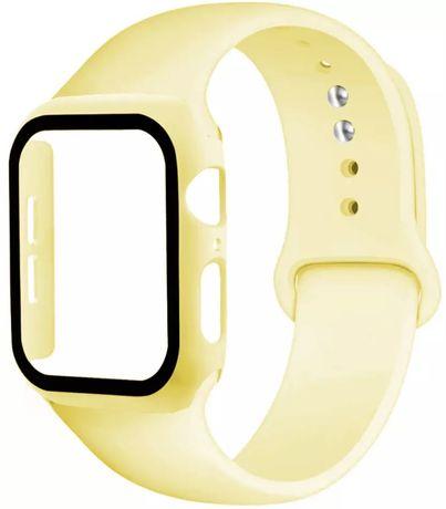 Curea Ceas + Husa Carcasa - Apple Watch 38/40/42/44mm 1 2 3 4 5 6 SE