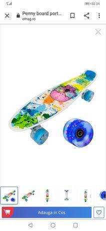 Vand Penny board portabil cu roti luminoase