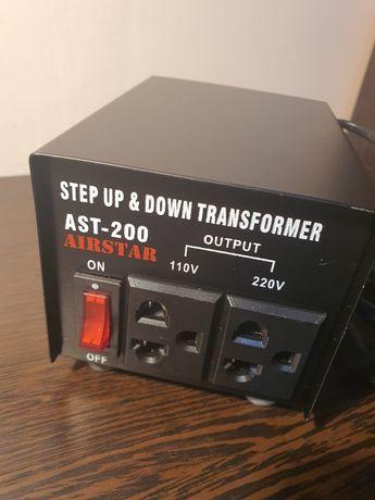 трансформатор понижающий с220w/240w на 110w/120w 200w
