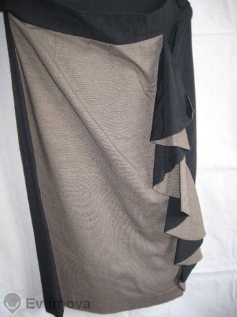 Дамска пола, елегантна, коприна+памук+лен