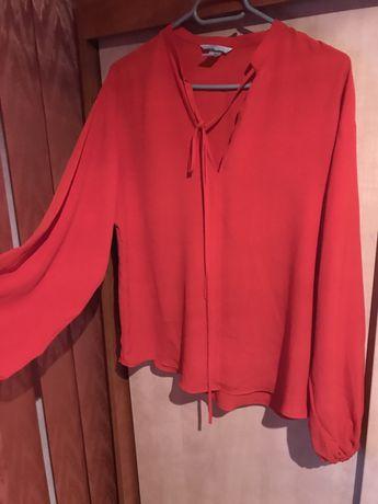 Bluza camasa rosie cu funda H&M
