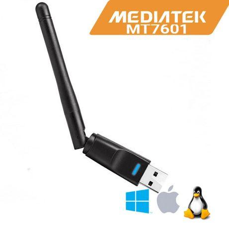 WiFi адаптер МедиaTek MT7601 USB 150Mbps с антена. Мрежова карта