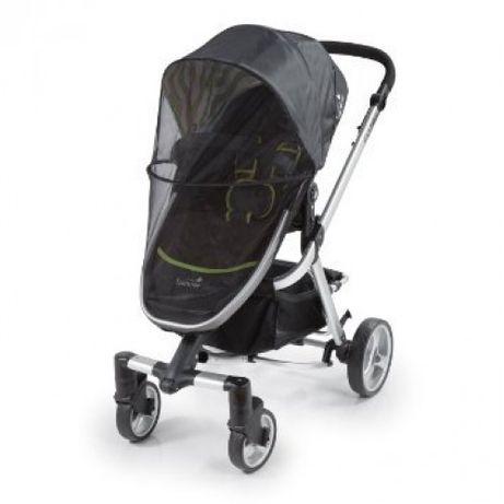 Универсален черен комарник за бебешка количка