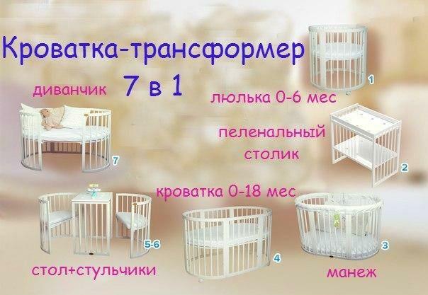 Продаю детскую кроватку-трансформер 7 в 1