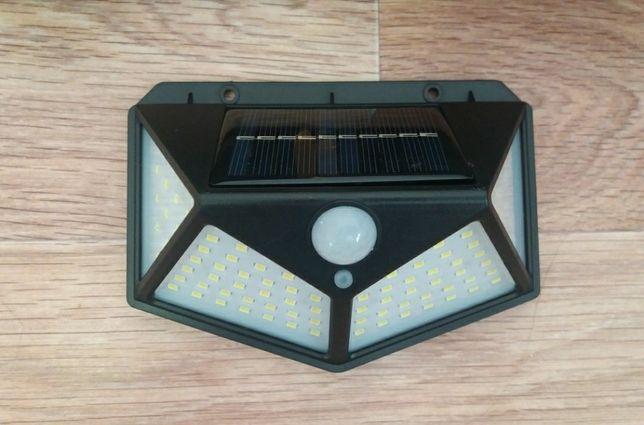 Led прожектор с датчиком движения солнечной зарядки новые