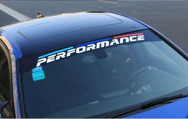 Colant Autocolant Sticker Parbriz Parasolar BMW Performance