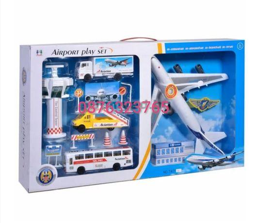 Детски комплект Летище самолет и аксесоари Детски играчки