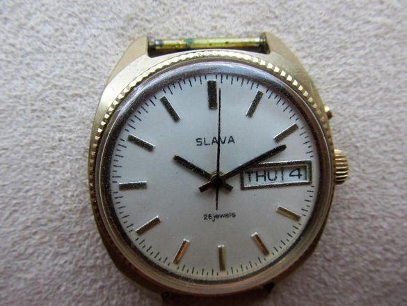 Стар руски ръчен часовник слава 26j