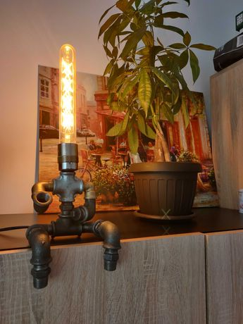 Lampa steampunk, stil industrial,retro. Veioza de noptiera,citit,decor