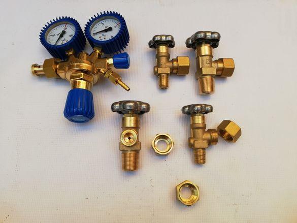 Гайка за вентил или кран:въглерод,аргон,коргон,хелий,пропан,азот