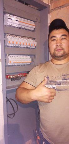 Услуги Электрика электромонтажника недорого Астана