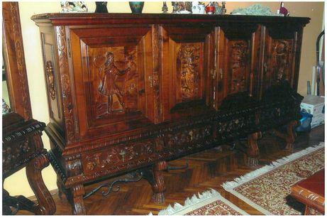 Vand mobila sufragerie Renastere Spaniola - Prado. Lemn masiv sculptat
