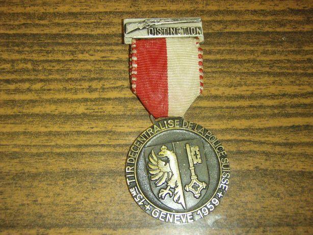 Medalie: Tir decentralise de la polices suisse - Geneve 1959