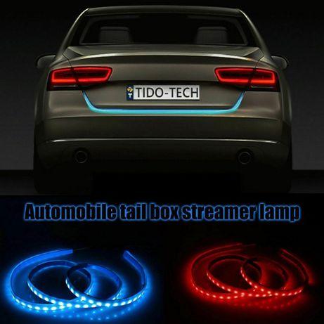 НОВО! LED лента за багажник задна светлина бягащи мигачи стоп аварийни