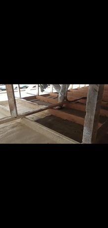 Пенополиуретановая утепление крыш ангаров методом напыления