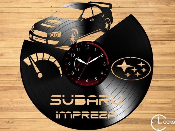 Ceas de perete din lemn Subaru Impreza | retro stil modern disc casa