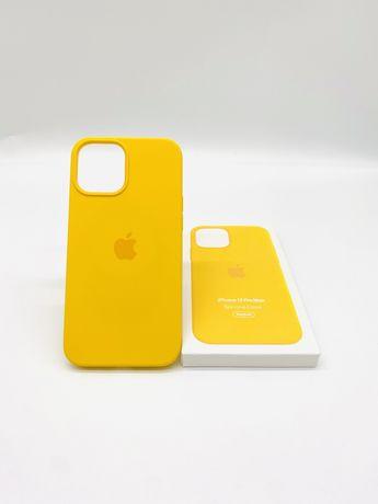 Husa apple silicon magsafe pentru iPhone 12 pro max sunflower