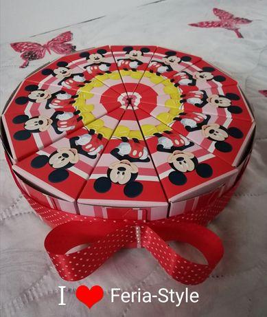 Картонена торта за рожден ден и празник с анимационни герои по ваш изб