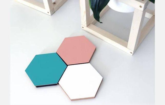 Hexagoane MDF brut pentru decor (home decor, casa, decoratie)