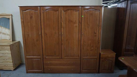 4 крилен чамов гардероб Мебели РУМ Кремиковци