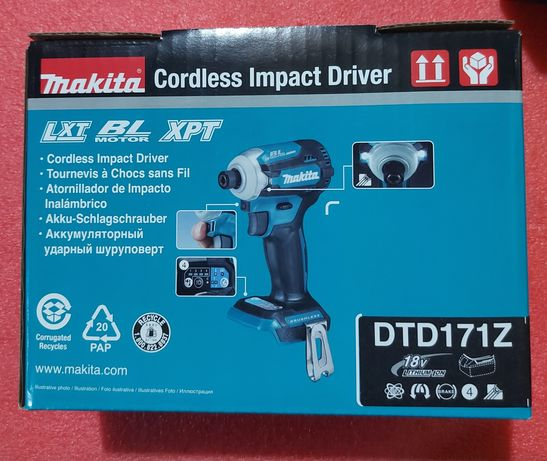 Нов топ модел безчетков импакт Makita DTD171