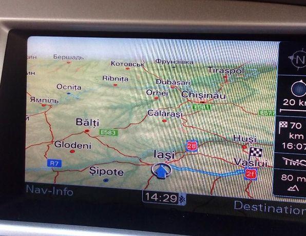 Harta GPS AUDI A4, A6, Q5, Q7 MMI 3G DVD Europa 2021 Romania Full 100%