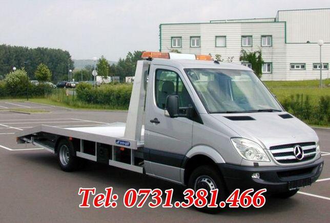 Tractari auto+transport auto și 8 locuri pentru pasageri