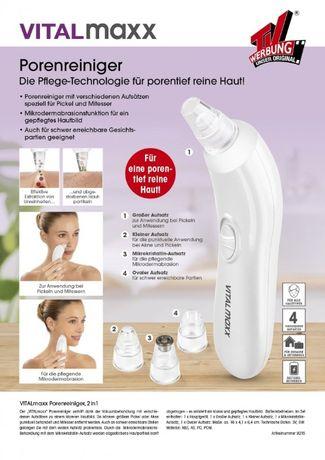 Вакуумен уред за почистване на кожата и порите VITALmaxx Pore Cleaner